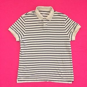 Modern Banana Republic Fitted Striped Polo Shirt